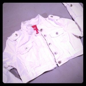 White Croped Jean Jacket